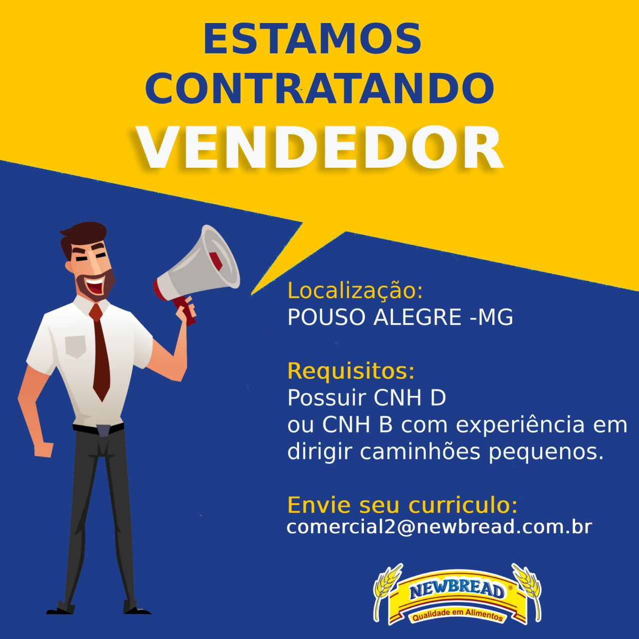 Vendedor Pouso Alegre
