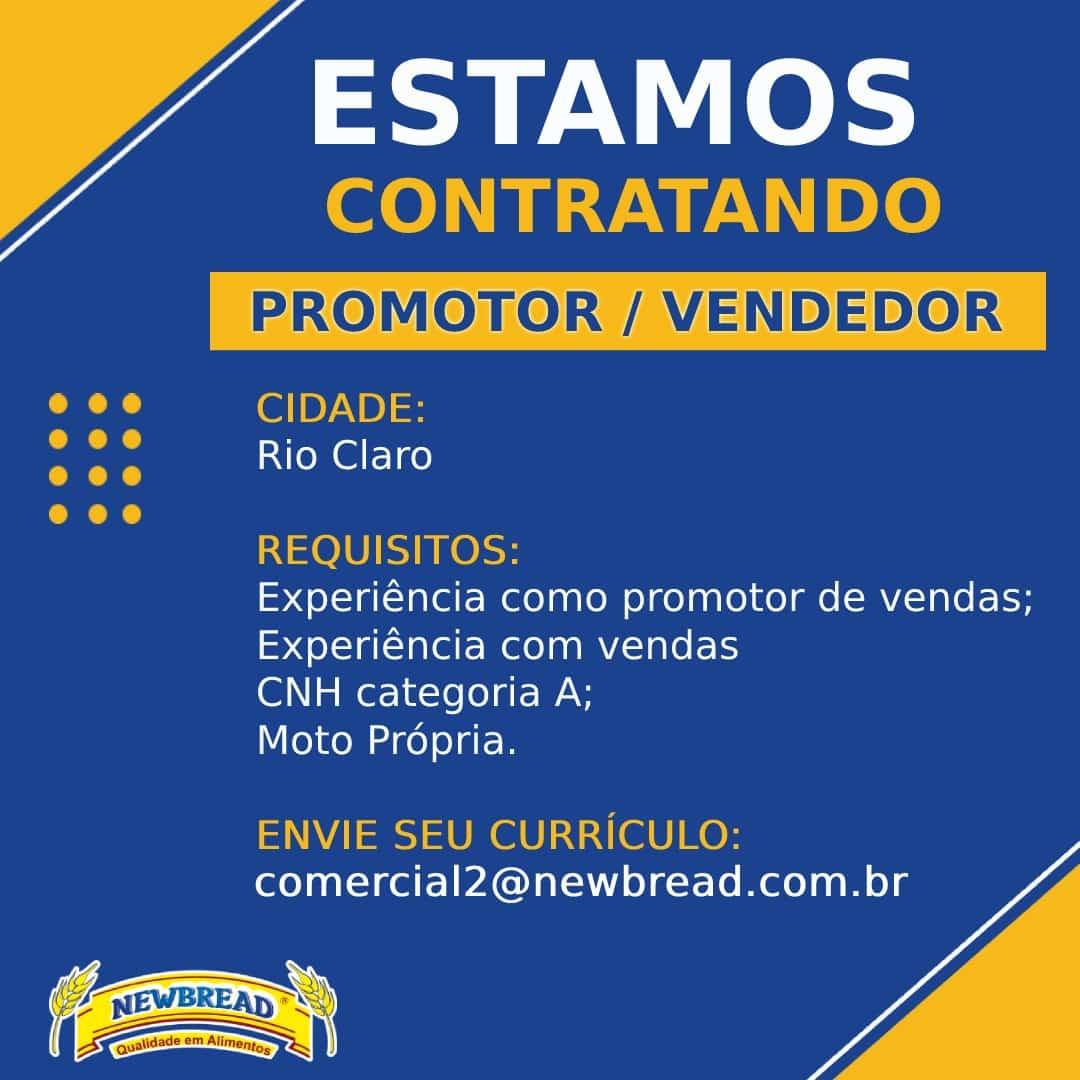 Vendedor Promotor Rio Claro